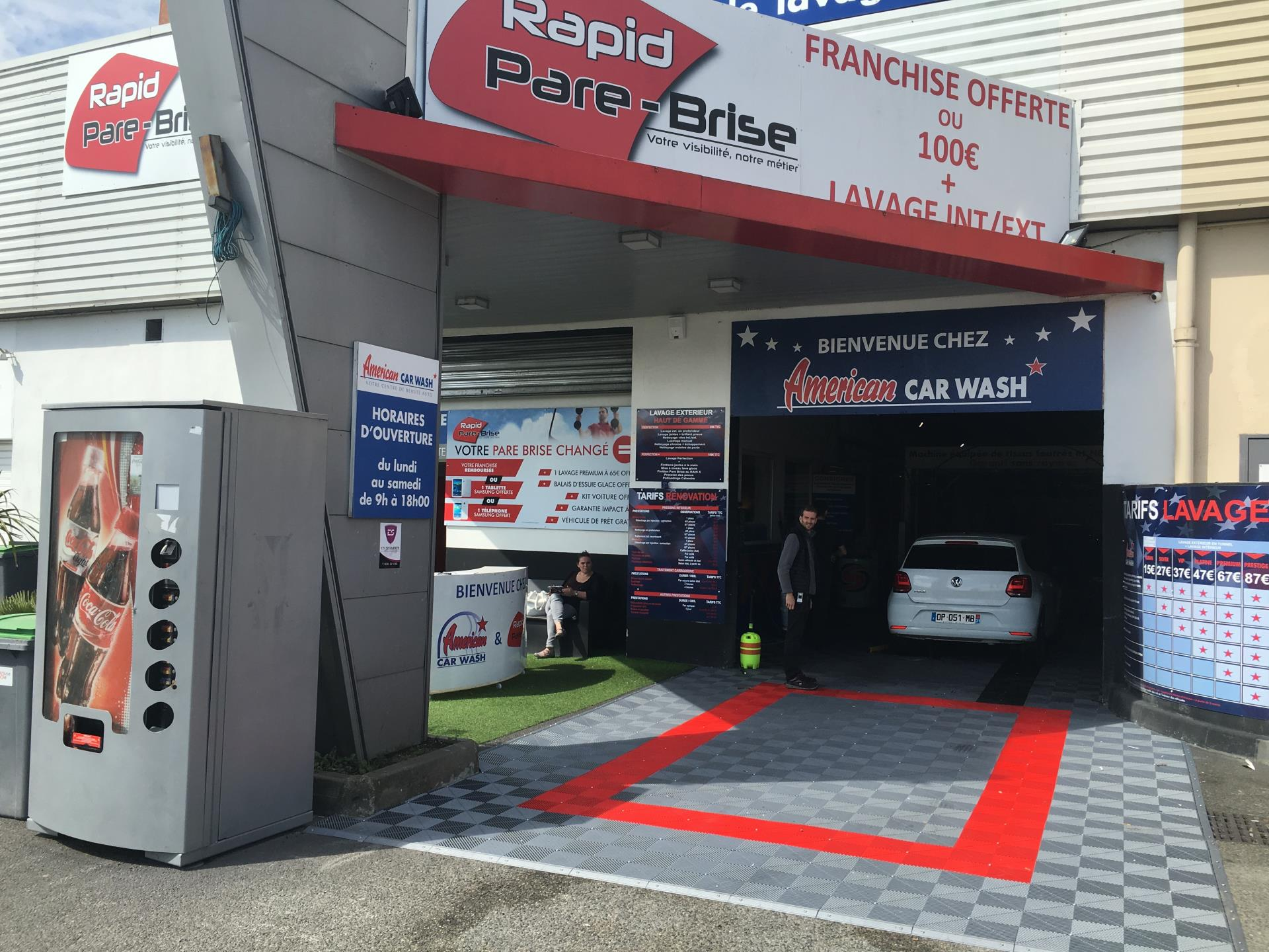 American car wash toulouse station lavage automobile for Tarif horaire garage automobile